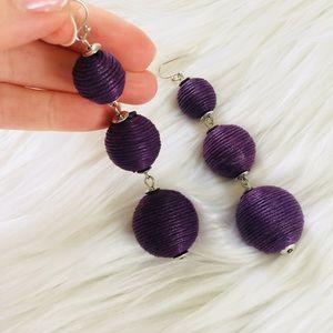 Jewelry - NEW Purple Bon Bon Triple Ball Dangle Earrings